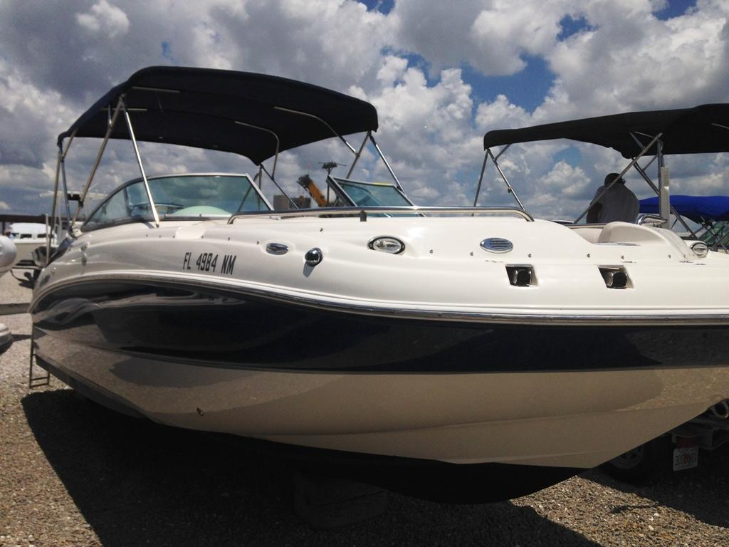 2008 used hurricane sundeck 24 deck boat for sale