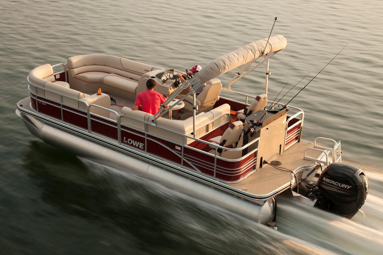 2016 new lowe sf232 sport fish pontoon boat for sale for Fishing pontoon boats