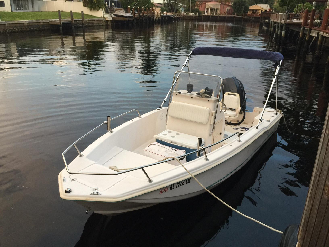 1997 used scout center console fishing boat for sale for Used fishing boats