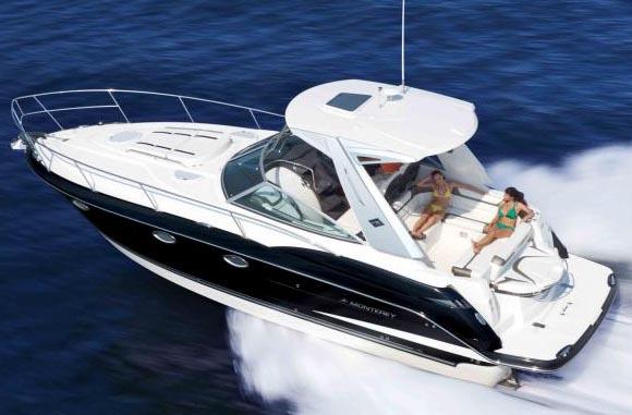 2013 used monterey 340 sport yacht cruiser boat for sale for Monterey sport fishing