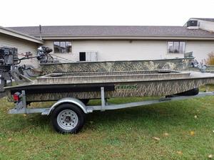 New Gator Trax 14' Marsh Aluminum Fishing Boat For Sale