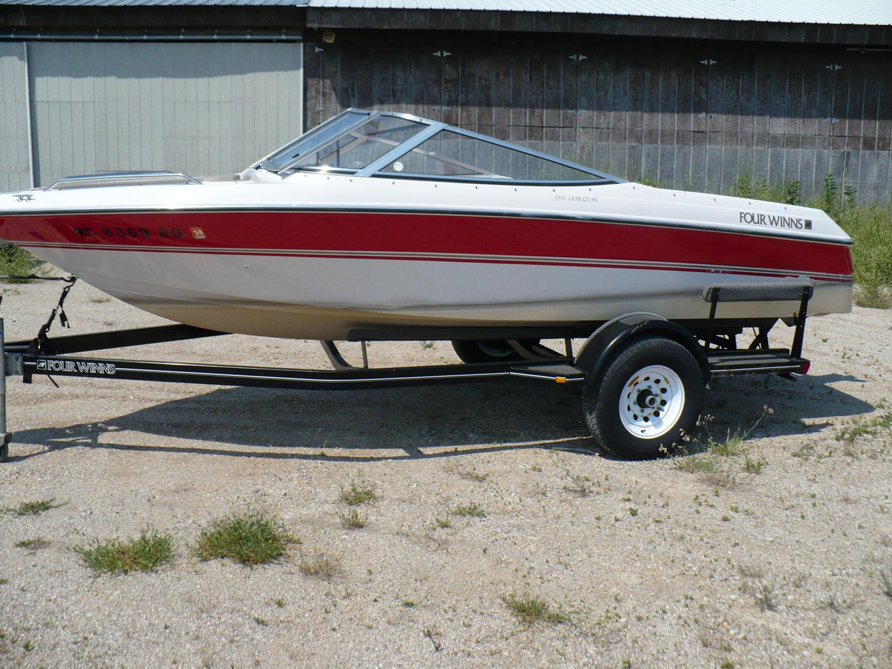 1996 used four winns 170 horizon bowrider boat for sale