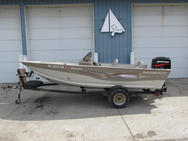 2005 used smoker craft 161 stinger aluminum fishing boat