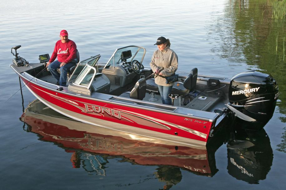 2016 new lund 1975 pro v freshwater fishing boat for sale for Best freshwater fishing boats