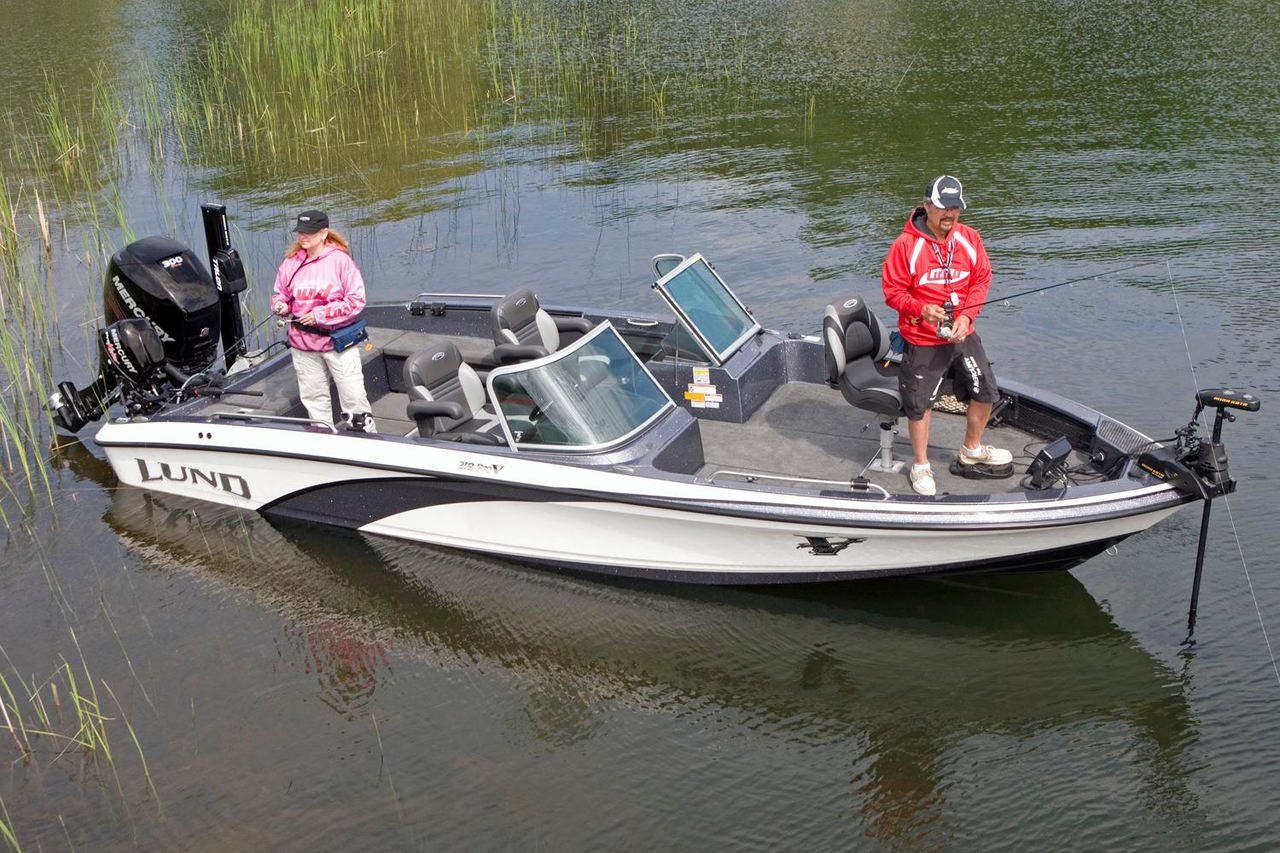 2016 new lund 219 pro v gl freshwater fishing boat for for Walleye fishing boats for sale