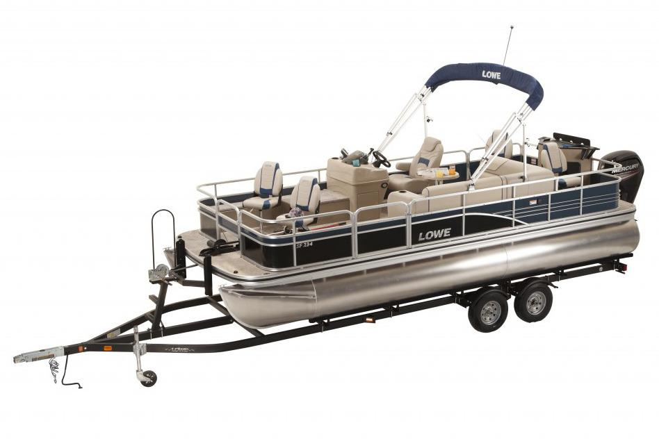 2016 new lowe sf234 sport fish pontoon boat for sale for Pontoon boat without motor for sale