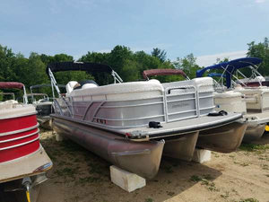 Used Aqua Patio 22 Ft Tritoon Aft Cabin Boat For Sale