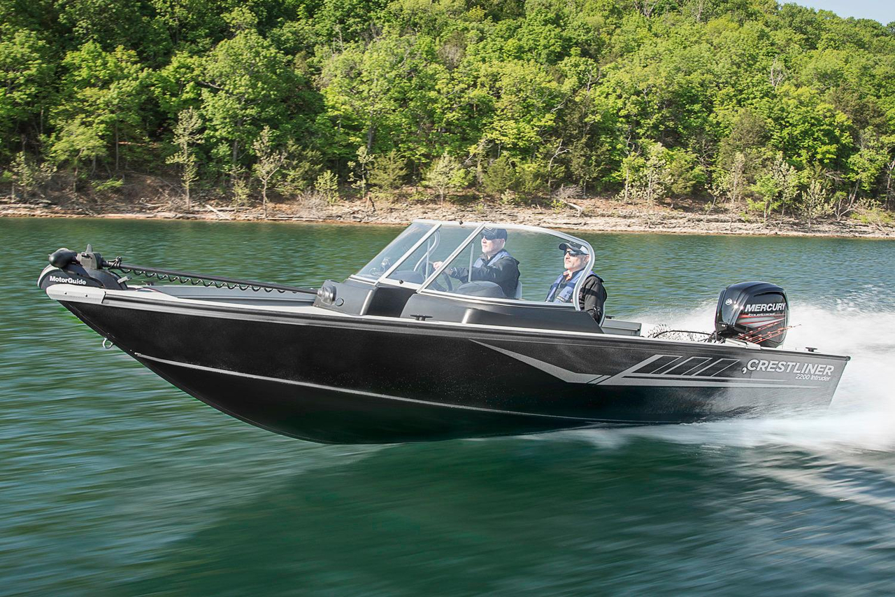 2016 new crestliner 2200 intruder aluminum fishing boat for Used aluminum fishing boats for sale in michigan