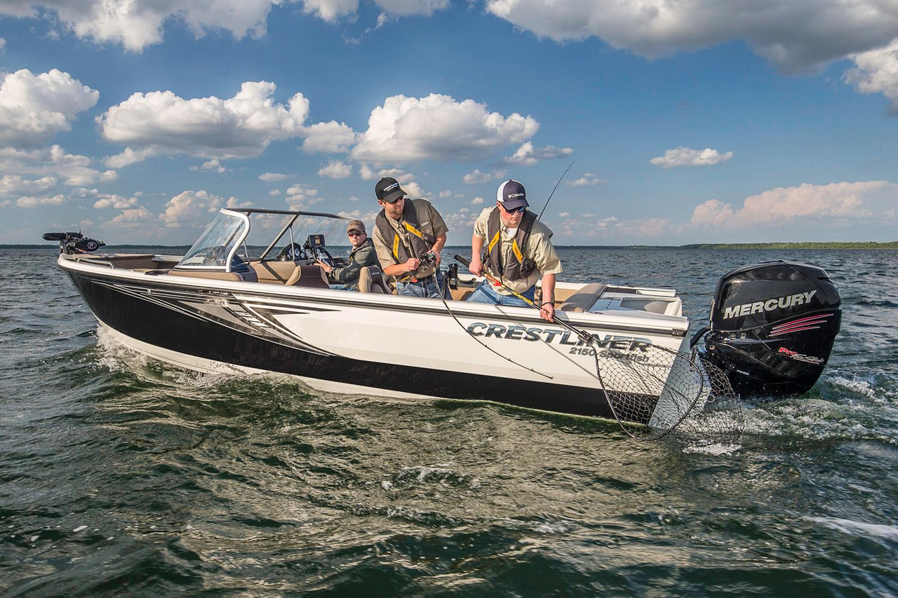 2016 new crestliner 2150 sportfish outboard aluminum for Fishing boats for sale in michigan