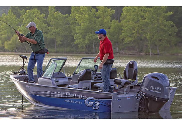 2015 used g3 angler v172 f aluminum fishing boat for sale for Used aluminum fishing boats for sale in michigan