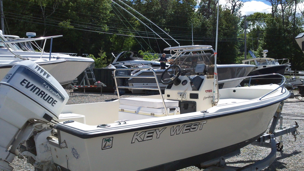1995 used key west 1700 center console center console for Center console fishing boats for sale