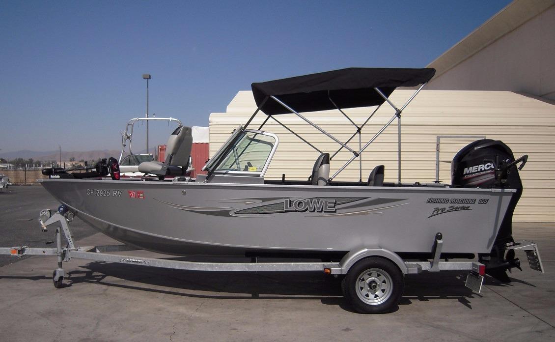 2013 used lowe fishing machine 165 pro aluminum fishing for Used fishing boat