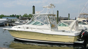 Used Stamas 32 Express Saltwater Fishing Boat For Sale