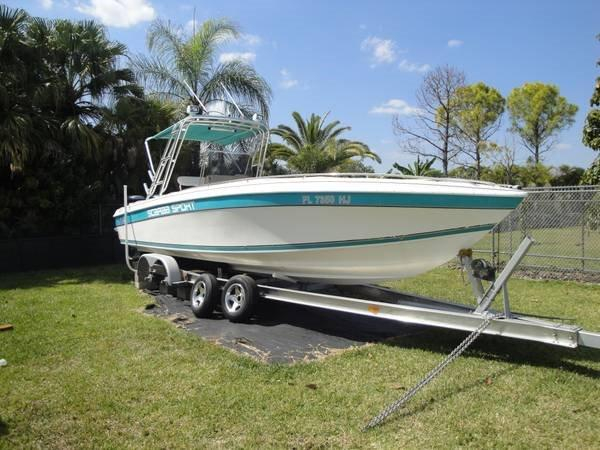 1993 used scarab sport 30 center console fishing boat for for Center console fishing boats for sale