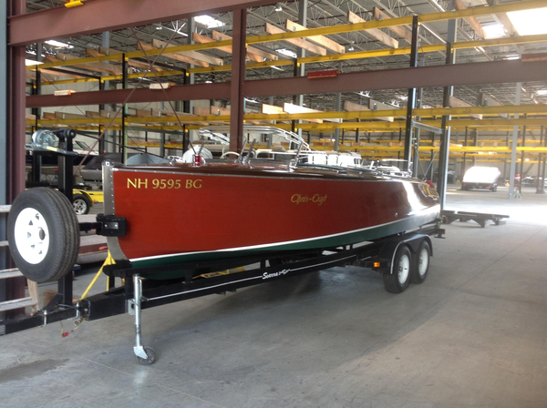 Used Fish Bros./chris Craft 23 Barrel Back Replica Antique and Classic Boat For Sale