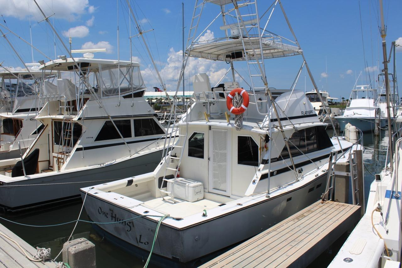 1975 used bertram widebody sports fishing boat for sale for Commercial deep sea fishing boats for sale