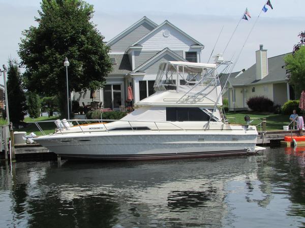 Used Sea Ray 34 Sedan Bridge Convertible Fishing Boat For Sale