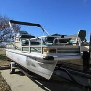 Used Voyager 21 Fish N Cruise Pontoon Boat For Sale