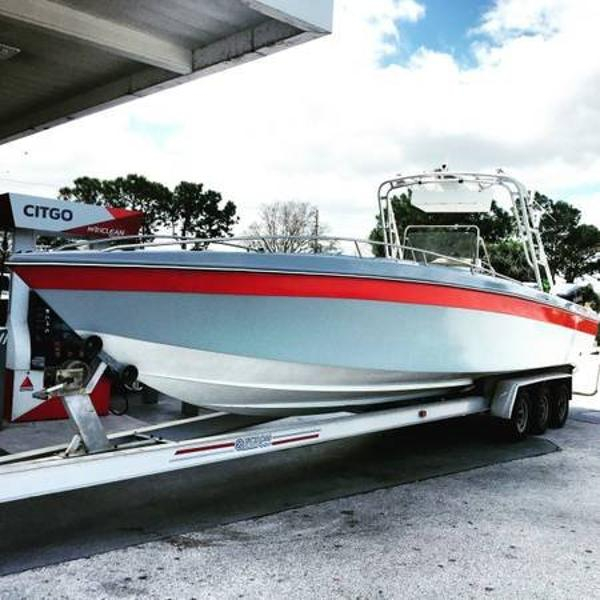 1986 used scarab center console fishing boat for sale for Center console fishing boats for sale