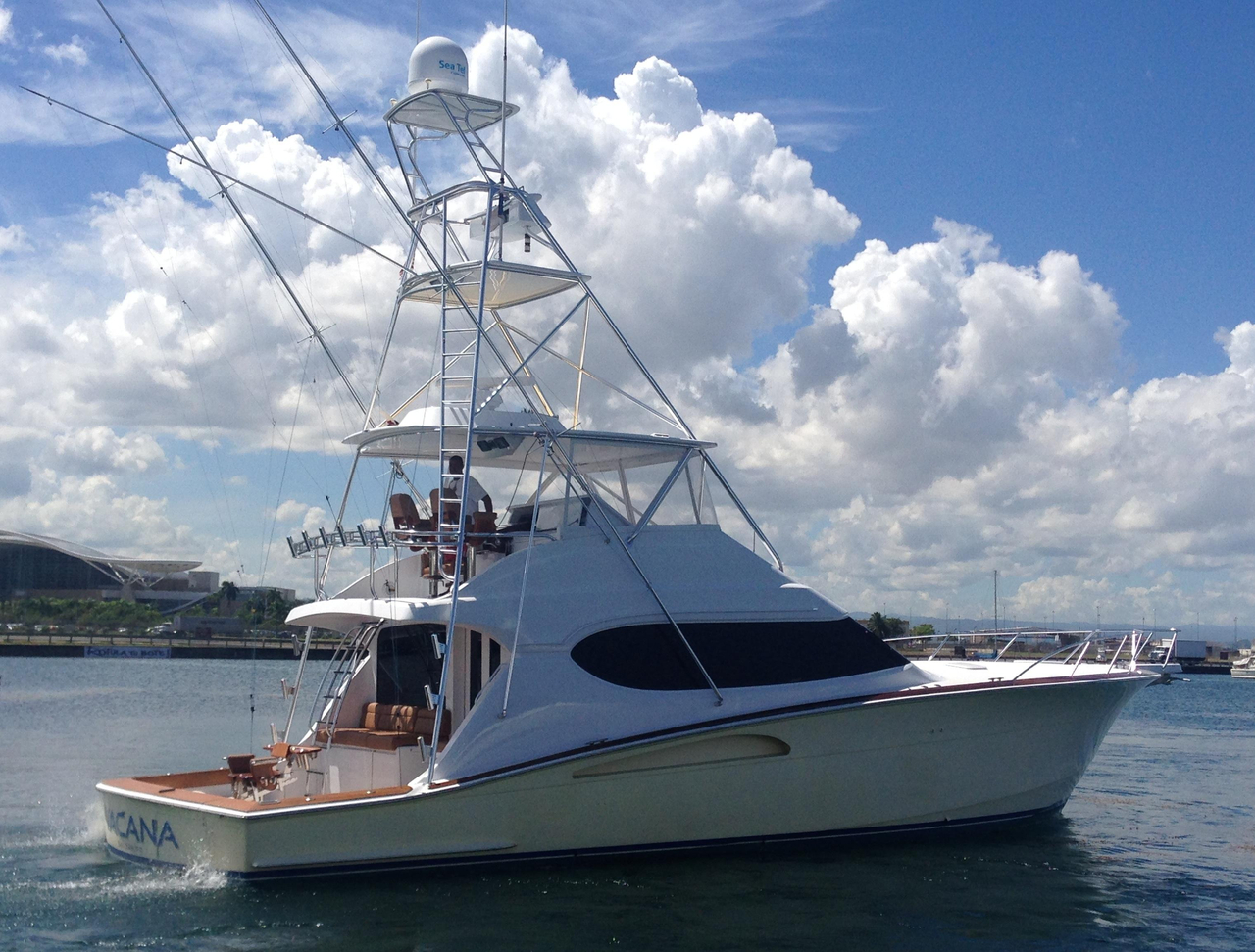 2006 used hatteras 54 convertible saltwater fishing boat for Hatteras fishing boat