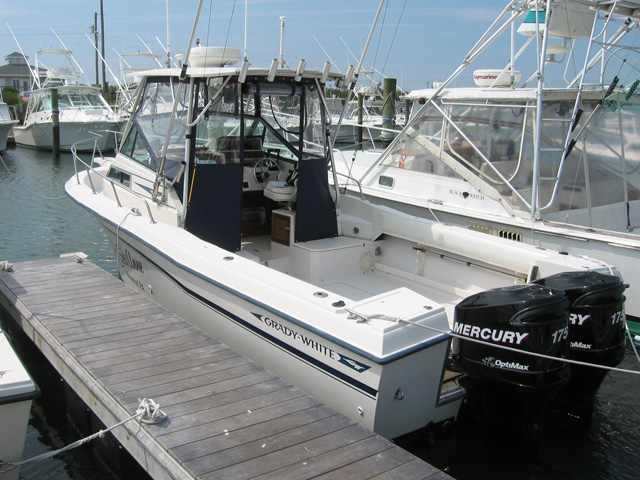 1989 used grady white trophy pro saltwater fishing boat for Offshore fishing boats for sale