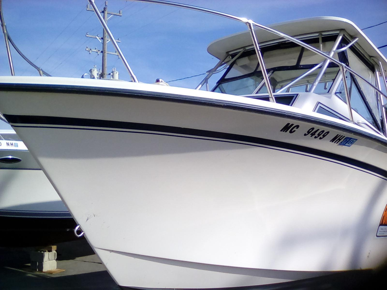 1988 used grady white 25 sailfish walkaround fishing boat for Used fishing boats for sale in michigan