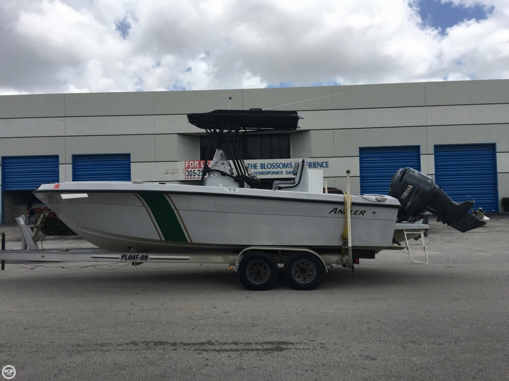 2002 used angler 220b center console fishing boat for sale for Angler fish for sale