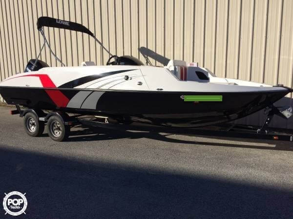 Used Lowe 21 Sport Deck Aluminum Fishing Boat For Sale