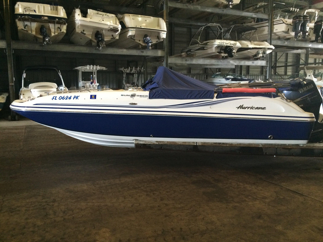 2012 used hurricane 211 sds deck boat for sale 28 995 for Hurricane sundeck for sale