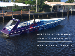 New Sonic Powerboats 45 High Performance Boat For Sale