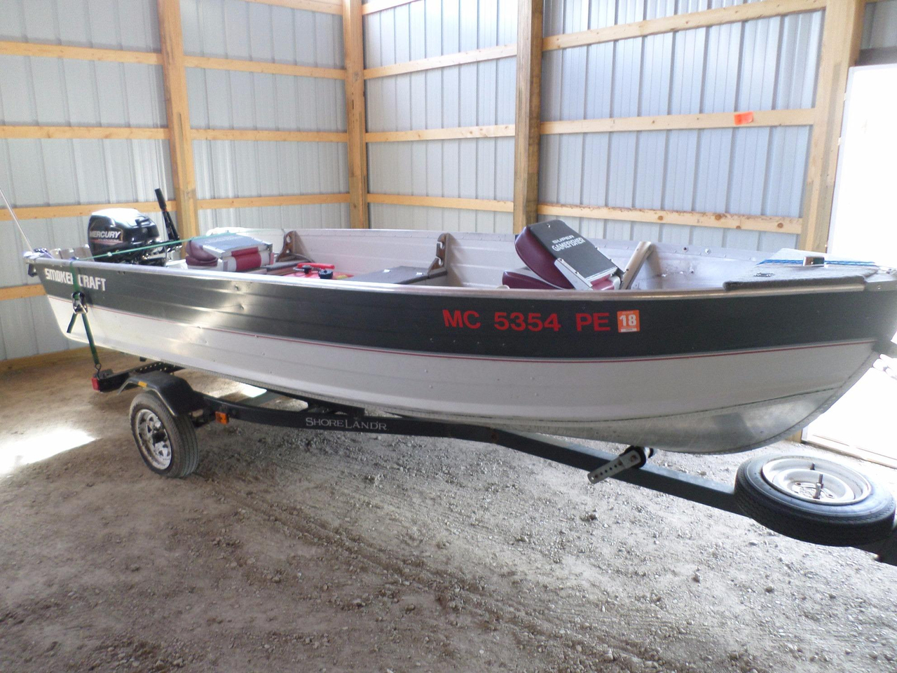 1990 used smoker craft 14 39 fishing freshwater fishing boat for Used aluminum fishing boats for sale in michigan