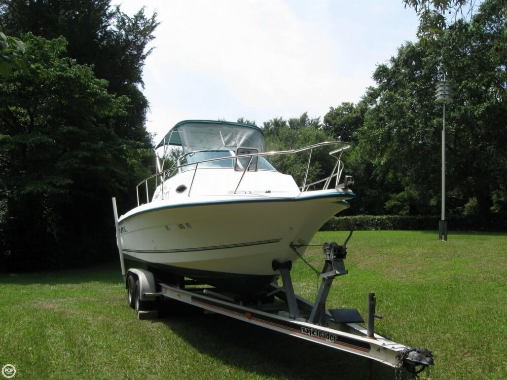 1997 used sunbird neptune 230 wa walkaround fishing boat for Used fishing boats for sale in eastern nc