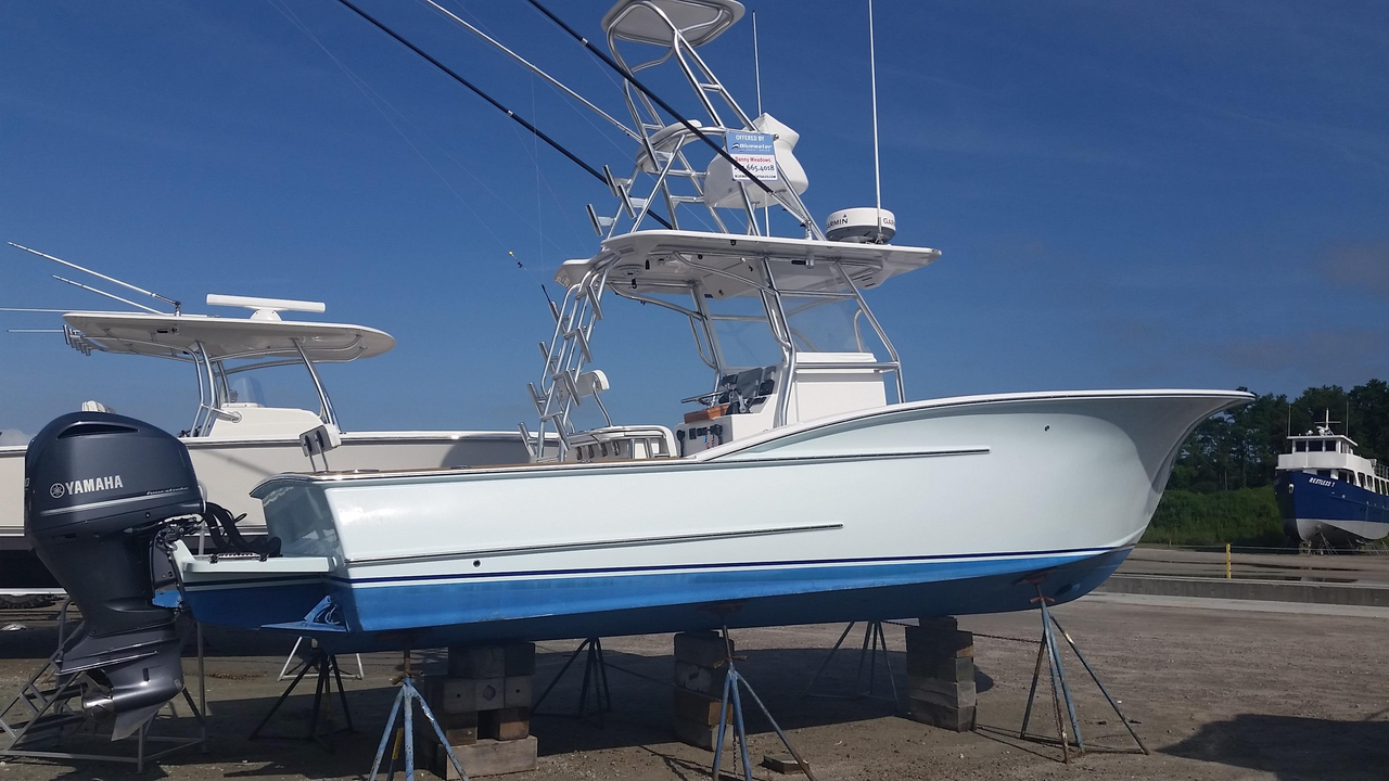 2012 used obx center console fishing boat for sale for Used fishing boats for sale in eastern nc