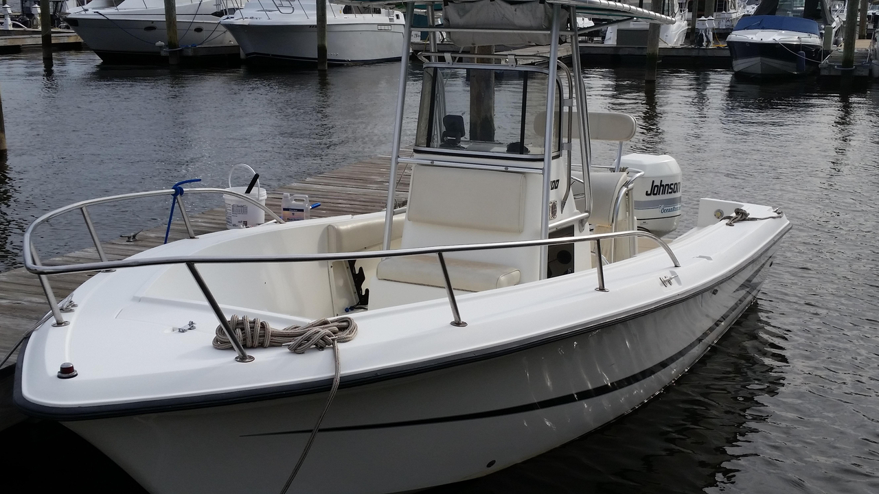 1993 used hydra sports 2100 cc freshwater fishing boat for for Best freshwater fishing boats