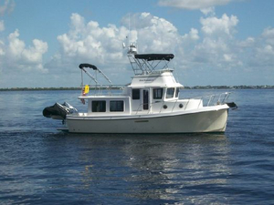 Used American Tug 34 Rare Flybridge Model Tug Boat For Sale