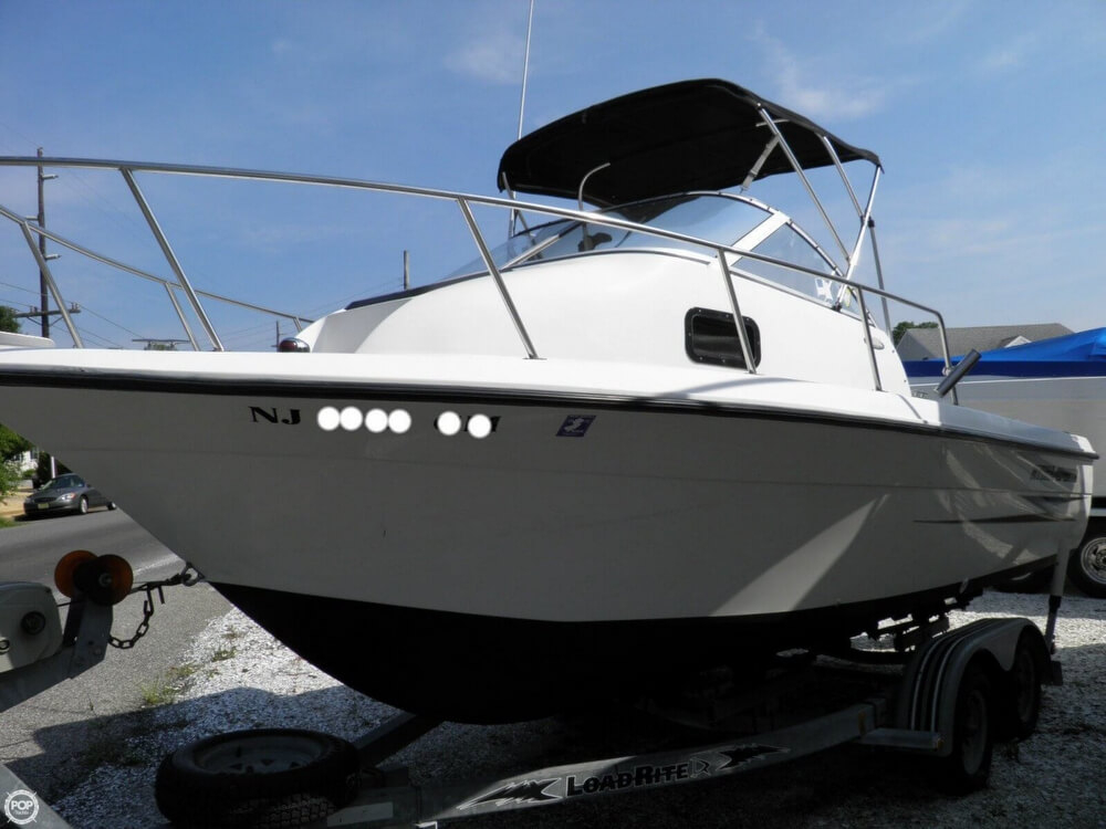 2000 used hydra sports 212 seahorse walkaround fishing for Fishing boats for sale nj