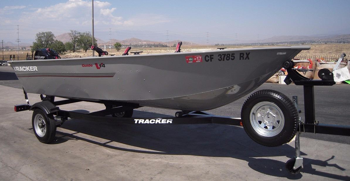 2015 used tracker guide v14 aluminum fishing boat for sale for Used fishing boats for sale in california