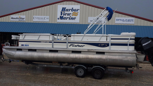Used Fisher 240 LX Pontoon Boat For Sale