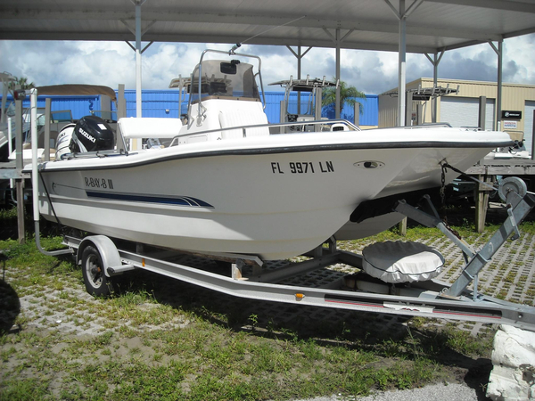 2001 Used Leader 18 Cat CC Center Console Fishing Boat For ...