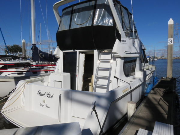 Used Carver 374 Voyager Convertible Fishing Boat For Sale
