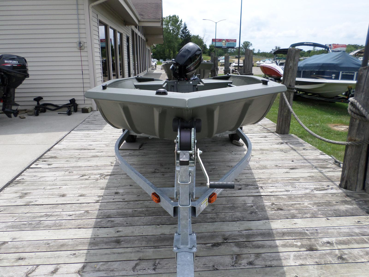 2016 New Polar Kraft Outfitter Modified V 1654 Jon Boat