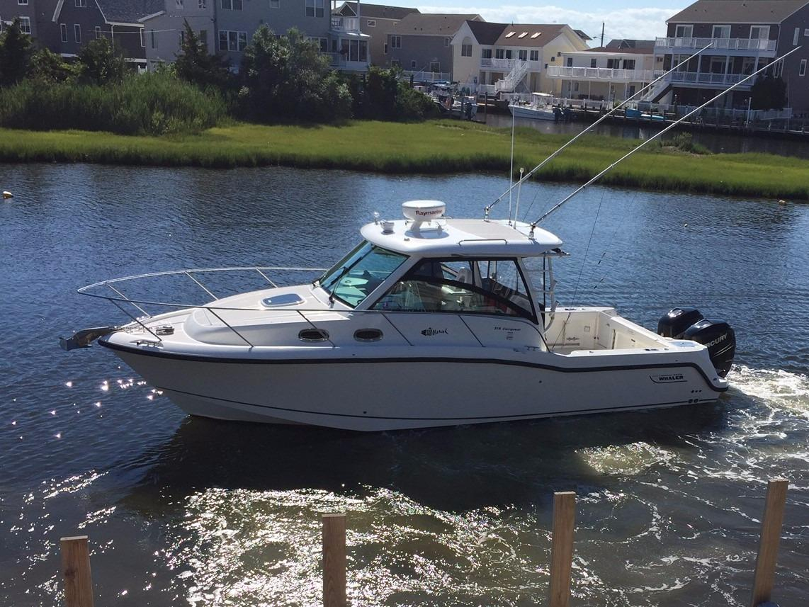 2014 used boston whaler 315 conquest saltwater fishing for Fishing boats for sale nj