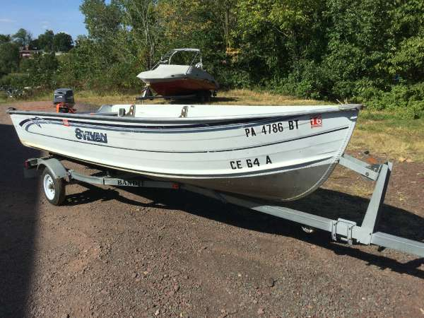 Used Sylvan SUPER SNAPPER Freshwater Fishing Boat For Sale