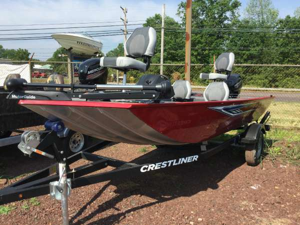 2016 new crestliner freshwater fishing boat for sale for Fishing boats for sale in pa
