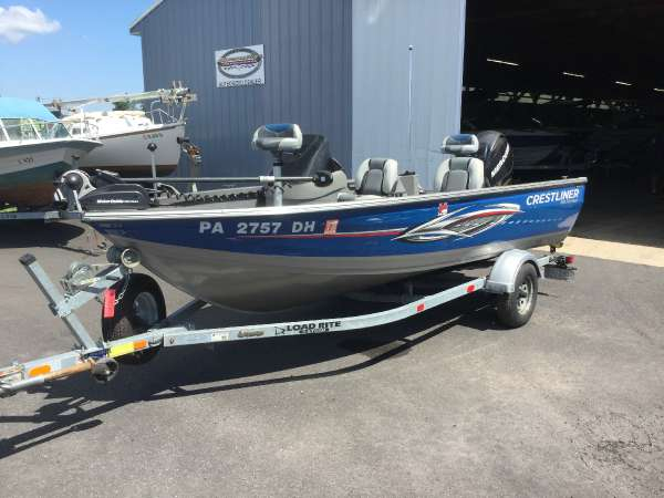Used Crestliner Fish Hawk 1600 SC Freshwater Fishing Boat For Sale