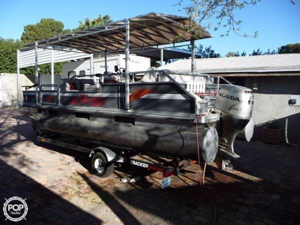 Used Tracker 20 Bass Buggy Pontoon Boat For Sale
