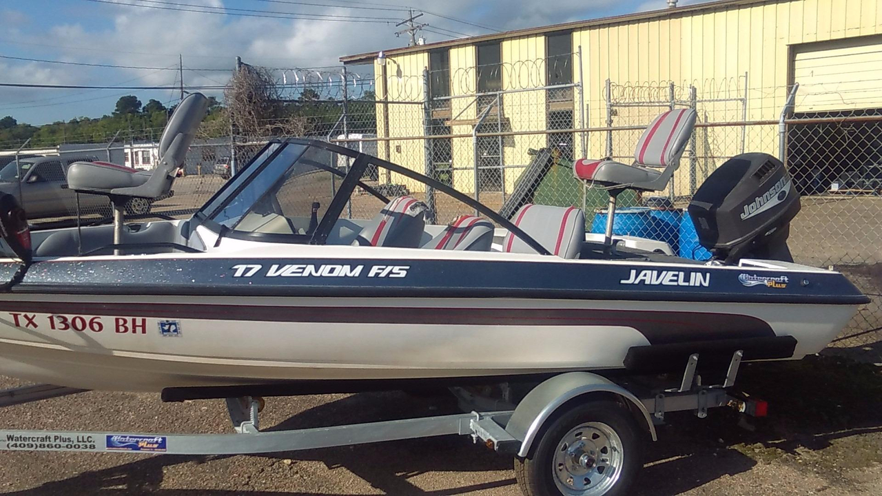 1999 used javelin venom 18fs ski and fish boat for sale for Fish and ski boats for sale