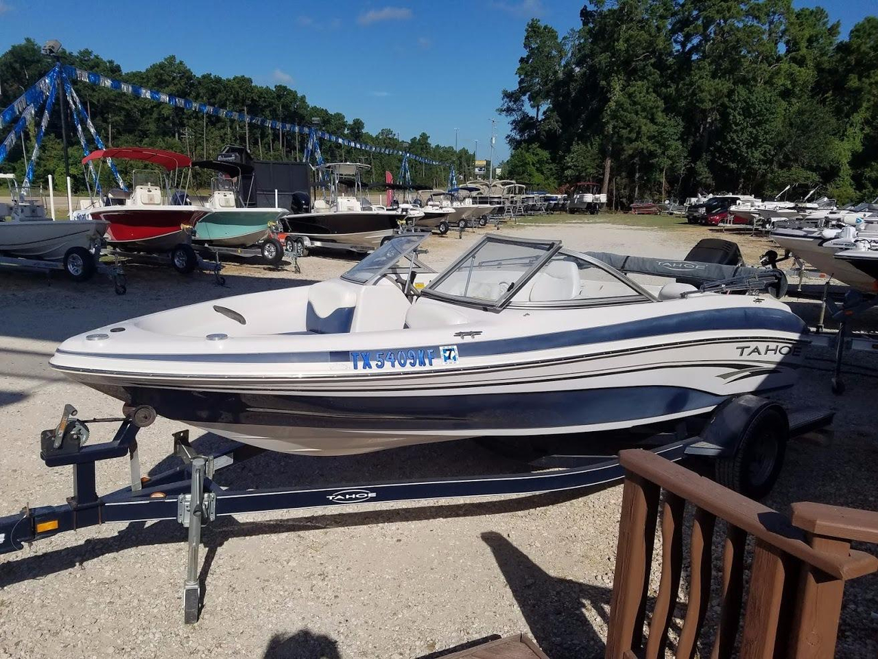2005 used tahoe q4 sport fish ski and fish boat for sale for Tahoe sport fishing