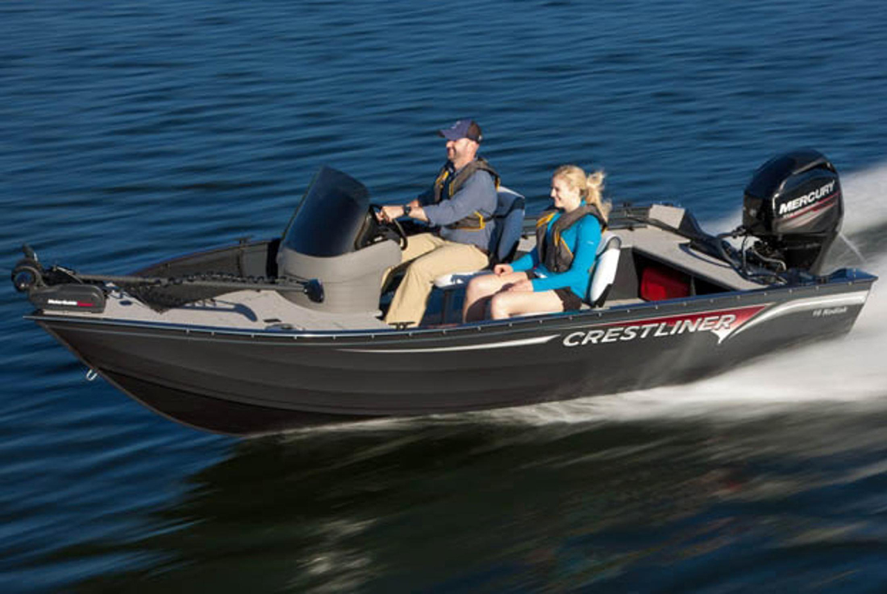 2013 new crestliner 16 kodiak freshwater fishing boat for for Freshwater fishing boats