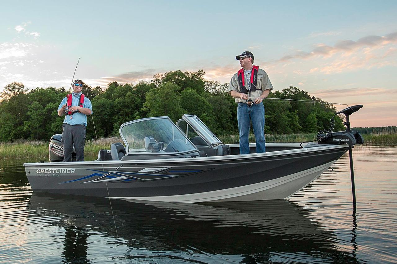 2016 new crestliner 1650 super hawk aluminum fishing boat for Petersburg alaska fishing